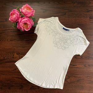 Apt. 9 cold shoulder embellished top, size XS